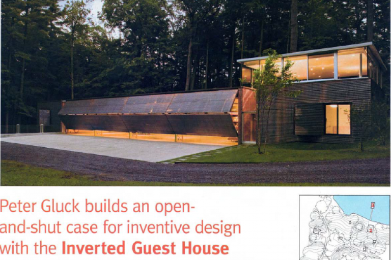 Image of Peter Gluck Builds the Inverted Guest House