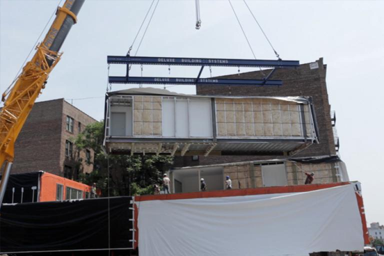 Image of This Prefab Building Is A First For New York