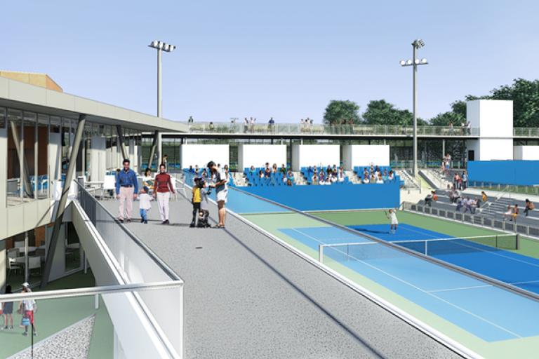 Image of Cary Leeds tennis center to open in June
