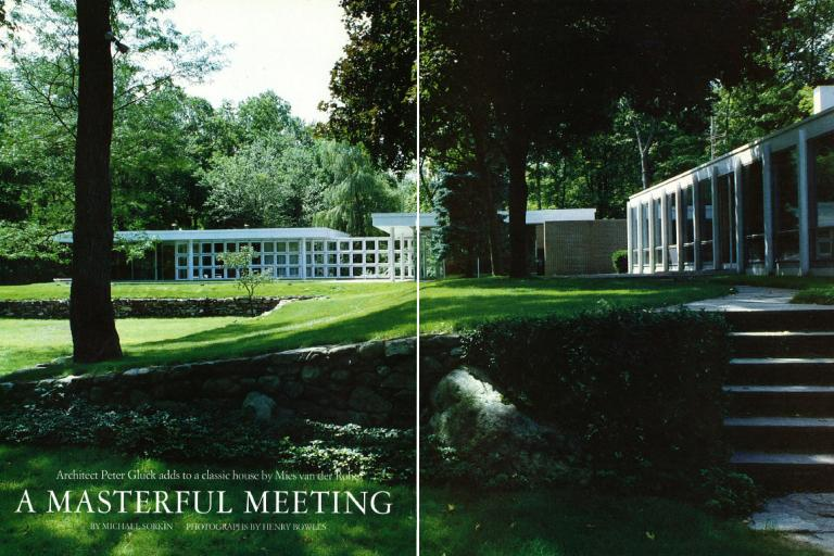 Image of Masterful Meeting: Gluck adds to Mies van der Rohe house