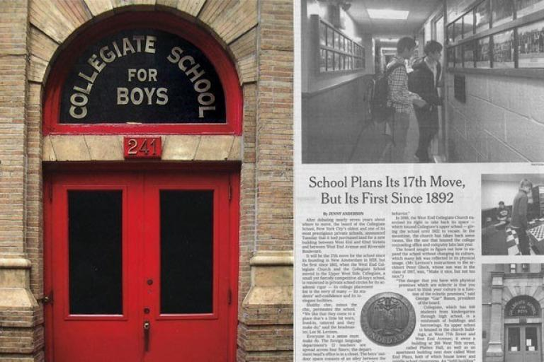 Image of School Plans Its 17th Move, but Its First Since 1892